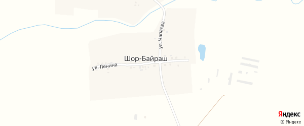 Улица Ленина на карте деревни Шор-Байраш с номерами домов
