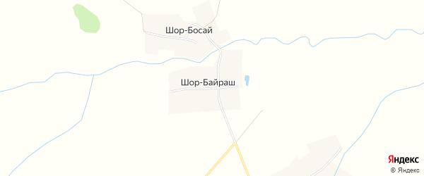 Карта деревни Шор-Байраш в Чувашии с улицами и номерами домов