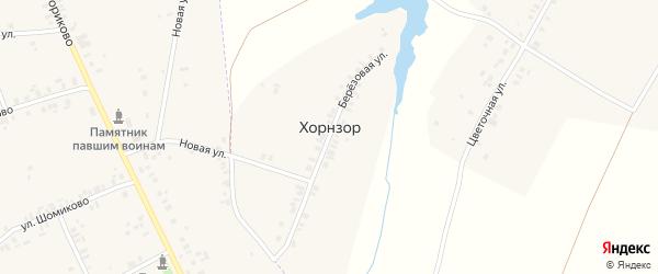 Березовая улица на карте деревни Хорнзора с номерами домов