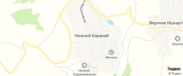 Улица Имама Шамиля на карте села Нижнего Караная с номерами домов