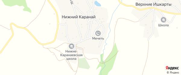 Улица Имама Казимагомеда на карте села Нижнего Караная с номерами домов