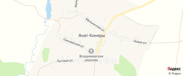 Луговая улица на карте села Аната-Киняры с номерами домов