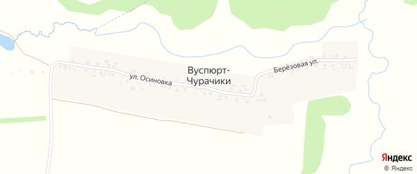 Березовая улица на карте деревни Вуспюрта-Чурачики с номерами домов