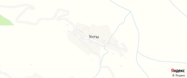 Унтынская улица на карте села Унты с номерами домов