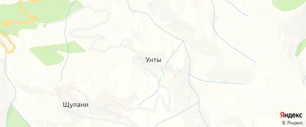 Карта села Унты в Дагестане с улицами и номерами домов