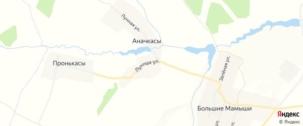 Карта деревни Аначкасы в Чувашии с улицами и номерами домов