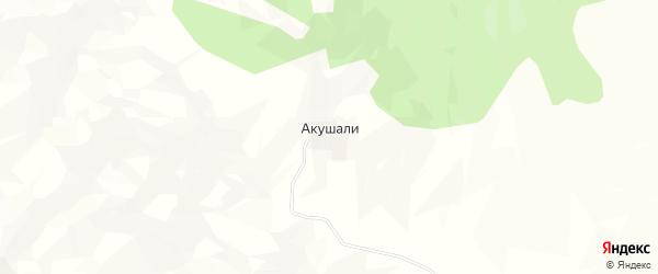 Карта села Акушали в Дагестане с улицами и номерами домов
