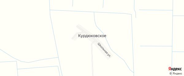 Карта Курдюковского села в Дагестане с улицами и номерами домов