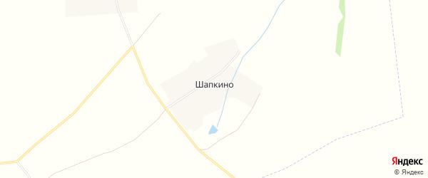 Карта деревни Шапкино в Чувашии с улицами и номерами домов