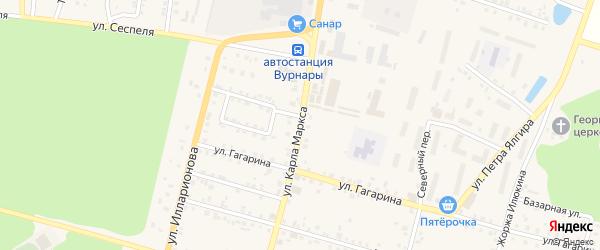 Улица К.Маркса на карте поселка Вурнары с номерами домов