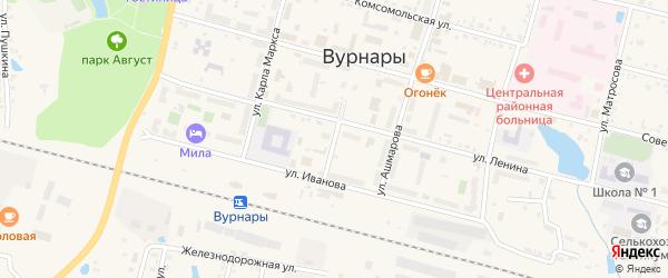 Коммунальный переулок на карте поселка Вурнары с номерами домов