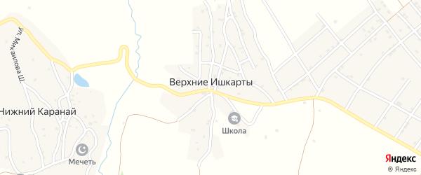 Улица Г.Далгата на карте села Верхнего Ишкарты с номерами домов