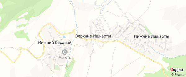 Карта села Верхнего Ишкарты в Дагестане с улицами и номерами домов