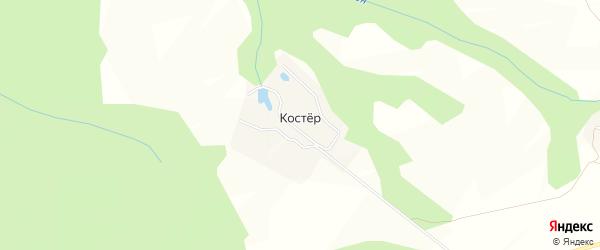 Карта поселка Костра в Чувашии с улицами и номерами домов