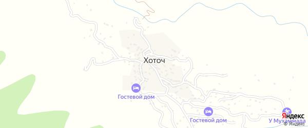 Хоточинская улица на карте села Хоточа с номерами домов