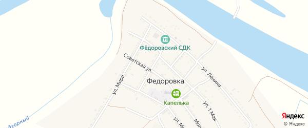 Садовая улица на карте села Федоровки с номерами домов