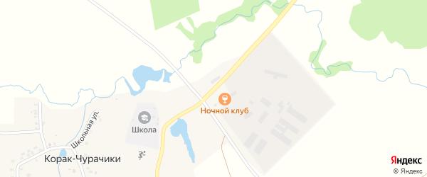 Совхозная улица на карте деревни Корака-Чурачики с номерами домов
