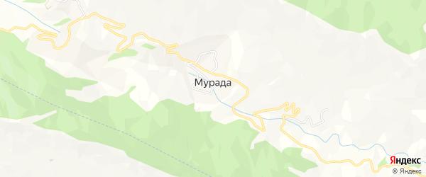 Карта села Мурады в Дагестане с улицами и номерами домов