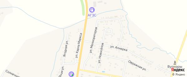 Улица Мелиораторов на карте поселка Вурнары с номерами домов