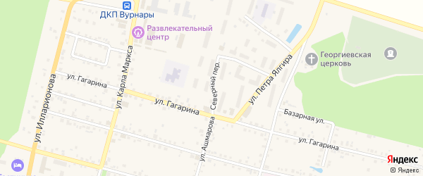 Северный переулок на карте поселка Вурнары с номерами домов