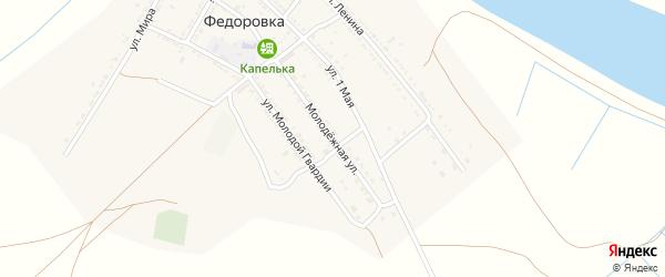 Молодежная улица на карте села Федоровки с номерами домов