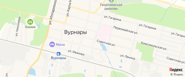 Карта поселка Вурнары в Чувашии с улицами и номерами домов