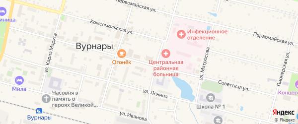 Студенческая улица на карте поселка Вурнары с номерами домов
