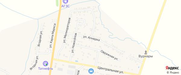 Улица Апнерка на карте поселка Вурнары с номерами домов