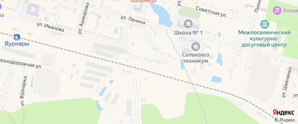 Путевая улица на карте поселка Вурнары с номерами домов