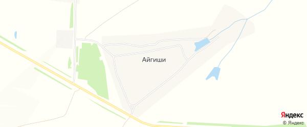 Карта деревни Айгиши в Чувашии с улицами и номерами домов