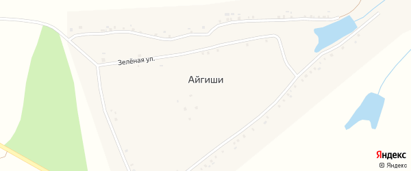 Южная улица на карте деревни Айгиши с номерами домов