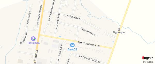 Овражная улица на карте поселка Вурнары с номерами домов
