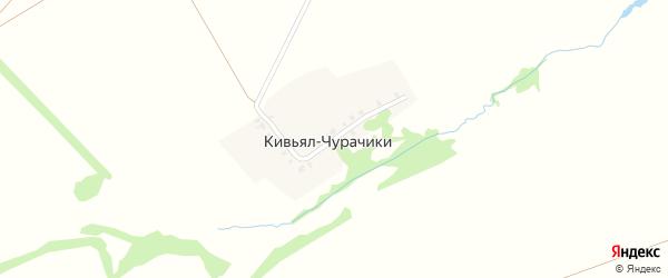 Приовражная улица на карте деревни Кивьяла-Чурачики с номерами домов