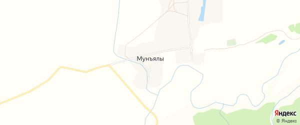 Карта деревни Мунъялы в Чувашии с улицами и номерами домов