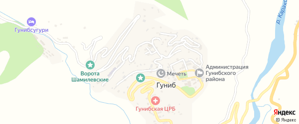 Улица Имени Ольги Форш на карте села Гуниба с номерами домов