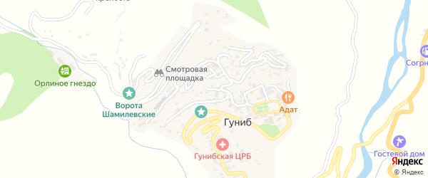 Улица Имени Абдулы Омарова на карте села Гуниба с номерами домов