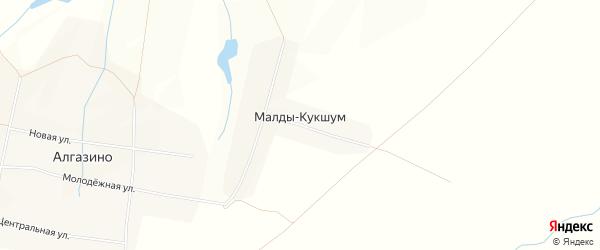 Карта деревни Малды-Кукшум в Чувашии с улицами и номерами домов