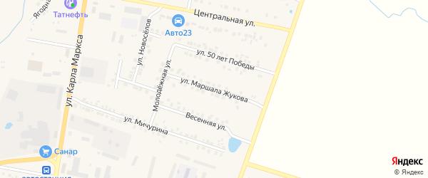 Улица Маршала Жукова на карте поселка Вурнары с номерами домов