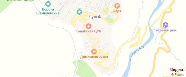 Улица Имени Николая Пирогова на карте села Гуниба с номерами домов
