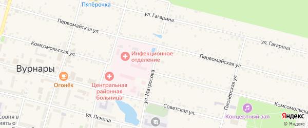 Улица Матросова на карте поселка Вурнары с номерами домов