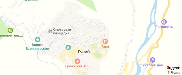 Душетская улица на карте села Гуниба с номерами домов