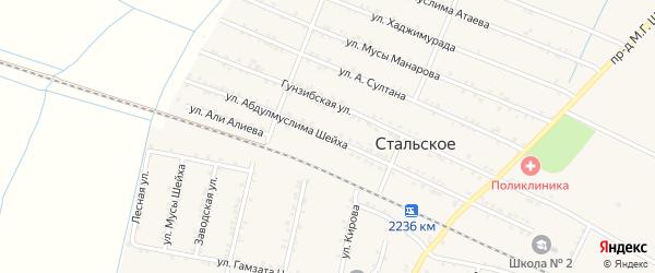 Улица Абдулмуслима Шейха на карте Стальского села с номерами домов