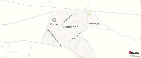 Карта села Новокаре в Дагестане с улицами и номерами домов