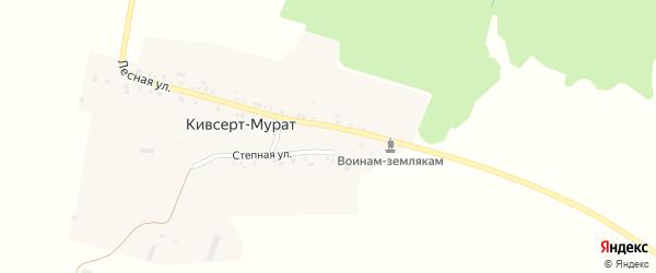 Лесная улица на карте деревни Кивсерта-Мурата с номерами домов