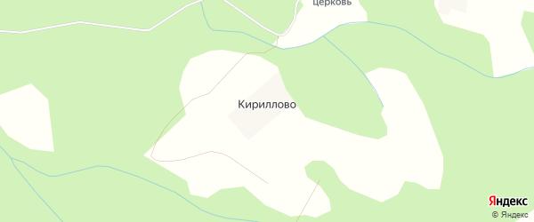 Карта деревни Кириллово в Архангельской области с улицами и номерами домов