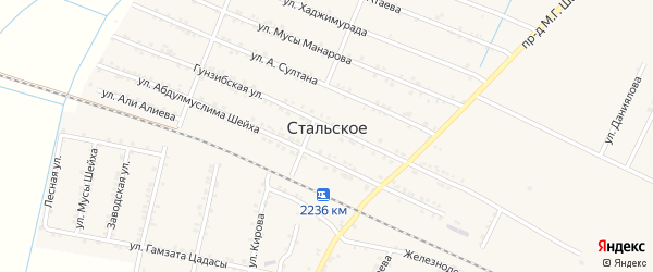 Улица Гасана Кади на карте Стальского села с номерами домов