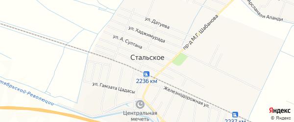 Карта Стальского села в Дагестане с улицами и номерами домов