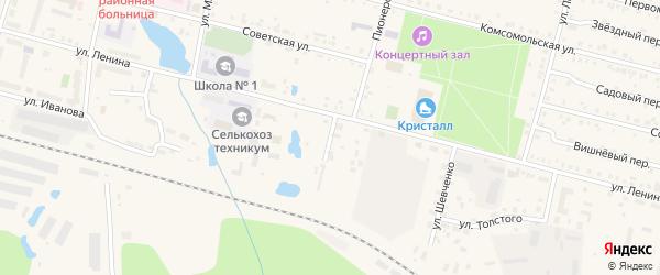 Банный переулок на карте поселка Вурнары с номерами домов