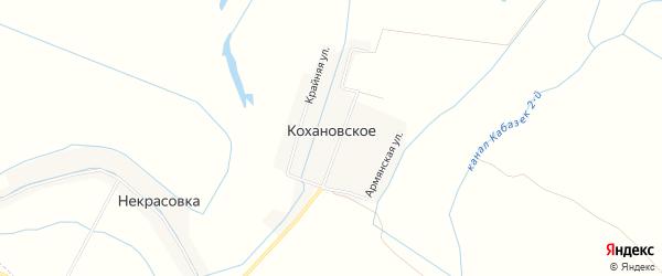 Карта Кохановского села в Дагестане с улицами и номерами домов