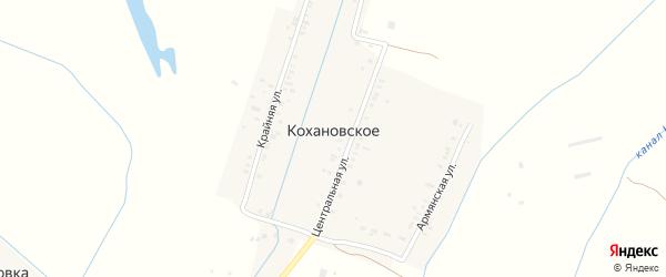 Крайняя улица на карте Кохановского села с номерами домов